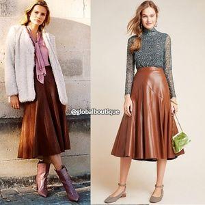 HTF NWT ANTHROPOLOGIE Mariska Faux Leather Skirt